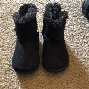 Toddler girl black boots